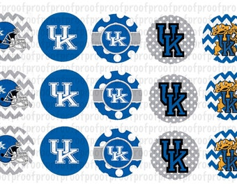 Kentucky Wildcats Inspired Bottle Cap Images