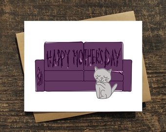 Cat Mother's Day Card, Cat Scratch Mother's Day Card, Cat Lover's Card, Cards about Cats, Cards with Cats, Funny Cat Cards, Cat Humor Card
