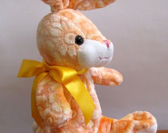 Orange Bunny Rabbit Puppet by The Puppet Patch