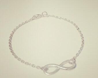 Silver plated Infinity Bracelet