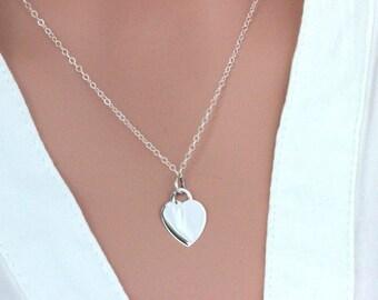 Sterling Silver Heart Lock Necklace. Heart Neckalce. Initial Heart Lock. Personalized Heart Lock Pendent. Taffiny Heart Pendent. Heart Lock