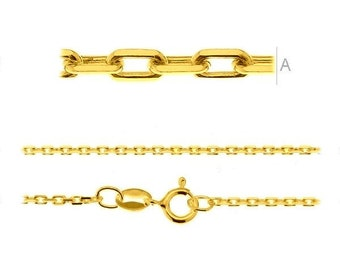 Gold-plated Chain Anker Sterling Silver 925 45 cm