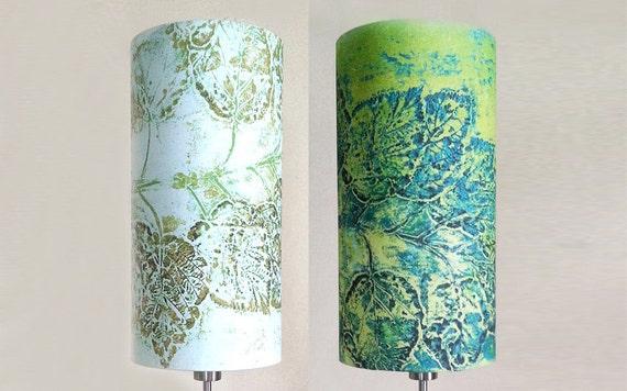 linen drum lamp shade in dark blue green teal. Black Bedroom Furniture Sets. Home Design Ideas