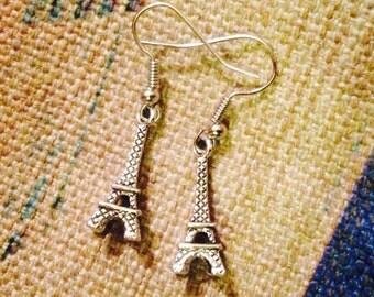 PARIS Tibetan Silver EIFFEL TOWER earrings