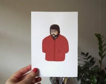 Red parka traveller-original artwork