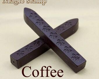 2pcs Coffee Sealing Wax Sticks for Wax Seal Stamp