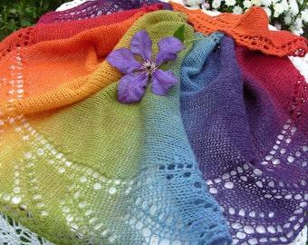 Shawl-scarf, boho style.