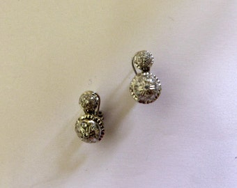 18k gold earrings and cubic zirconia