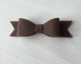 Chocolate felt bow