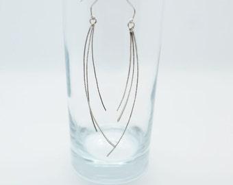 Sterling silver drop earrings