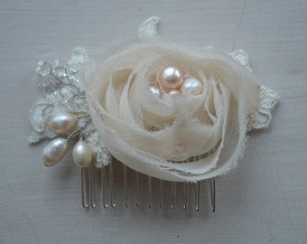 Delicate and beautiful bridal hair comb