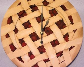 Hand Painted Cherry Pie Clock