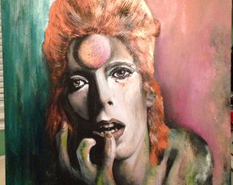 David Bowie Painting 20x30 Original