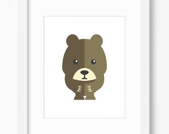 Bear Art, Bear Print, Nursery Art, Nursery Print, Nursery Bear Print, Nursery Bear Art, Kids Bear Art, Kids Bear Print, Children Bear Art