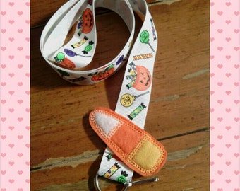 Candy corn lanyard