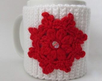 Crochet Pattern-Christmas mug cozy- Instant Download