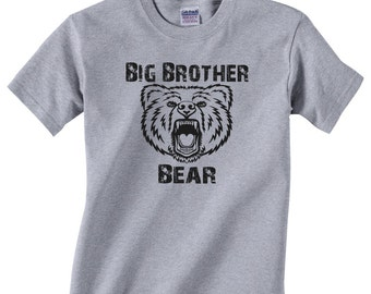Big Brother Bear Kids T shirt Boys Shirt T-Shirt Children Shirt Printed Clothing Short Sleeved Tee Shirt