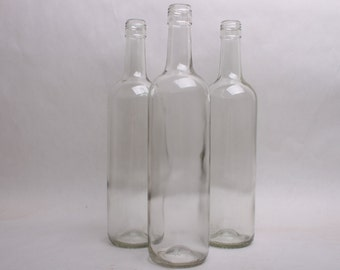 Clear Empty Wine Bottles for any Quantity
