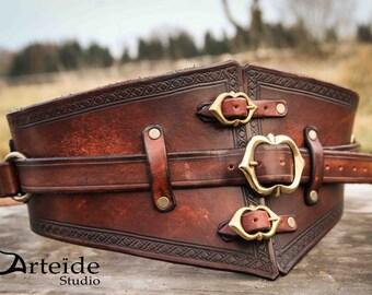 leather medieval fantasy belt