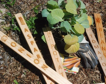 Laser Engraved Garden Stakes - Set of 5