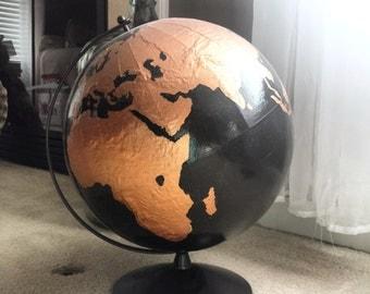 Custom Hand Painted World Globe