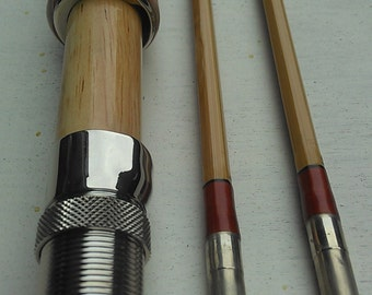 """Bamboo flyrod 6'6"""" for #3 line weight,2 piece with 2 tips."""