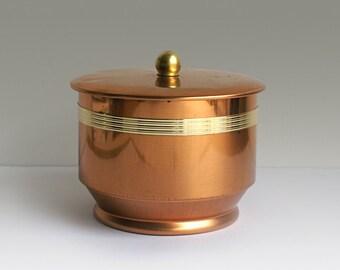 Vintage Kaffeedose 60er Metall Kupfer