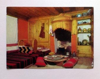 Vintage Postcard Klisura House Pavurdshiev Interior