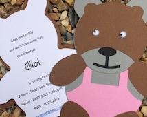 teddy bears picnic invitation - teddy bear birthday party - girl baby shower invites - boy baby shower invite - kids invites