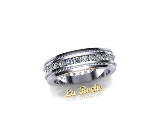 14k wg Ladies Diamond Wedding Band