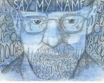Breaking Bad/ Heisenberg/ Walter White Typography Print