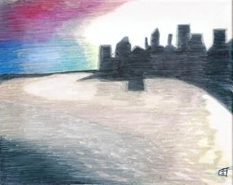 blackoutNYC - Giclee print on Somerset Velvet