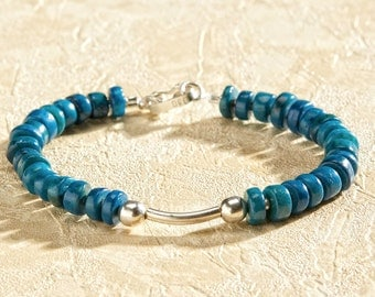 Beautiful Turquoise bracelet with silver 950.