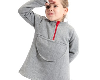 Thick tunic long sleeve made of 100% organic cotton