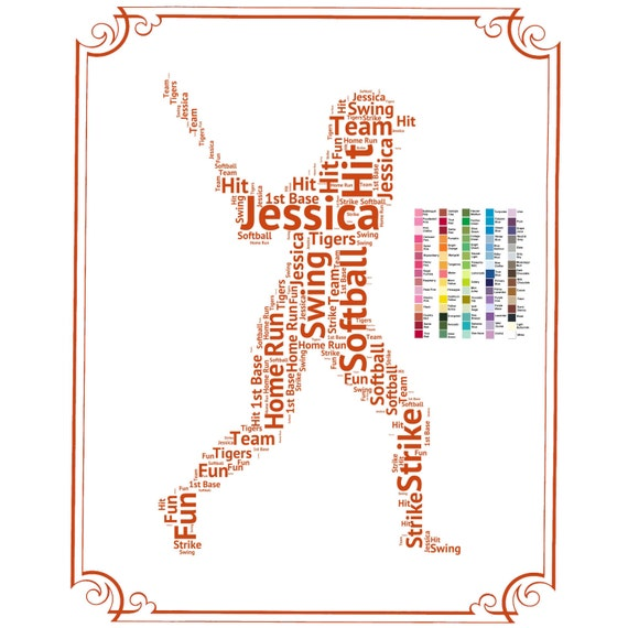 PERSONALIZED Softball Gift - Softball Gift Word Art - Softball Player ...: https://www.etsy.com/listing/219304584/personalized-softball-gift...
