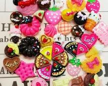 20 pcs 3D Miniature Sweets Deco Cabochon Mix Assorted Resin Random No repeat ~ D1-01