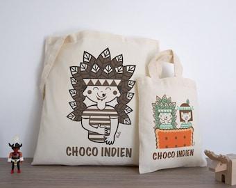 Lot Choco-Indian (tote bag + Tote boy)