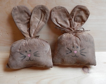 Prim Bunnies country decor cupboard tucks ornies bowl fillers shelf sitters