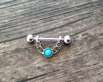 Popular items for nipple piercing on etsy for Pierced nipple stretching jewelry