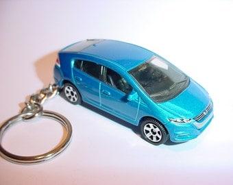 3D 2010 Honda Insight custom keychain by Brian Thornton keyring key chain finished in blue color trim greddy