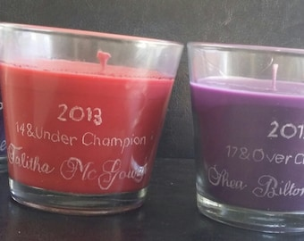 Personalised candles - Hand engraved