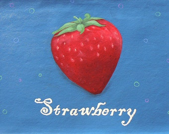 Strawberry Floorcloth