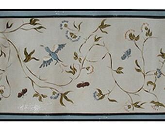Antique Scandinavian Wallpaper Design Floorcloth