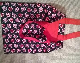 Black and Red Ladybug Tote Bag