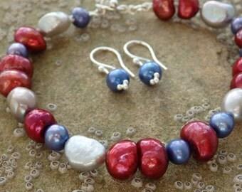 Stunning Pearl Bracelet & Earrings