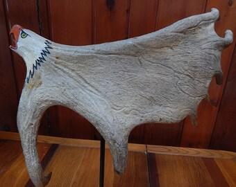 Moose Antler Eagle Carving