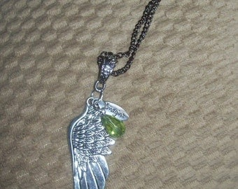 Wing to Imagine   with Peridot crystal