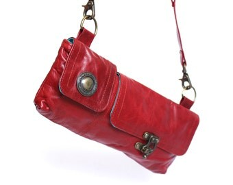 Leather hip or shoulder bag