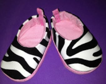 American Girl doll shoes Zebra print doll shoes for American girl size dolls