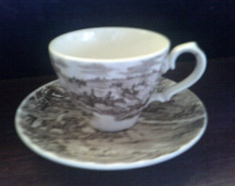Cup and Saucer Allertons Homestead Brown